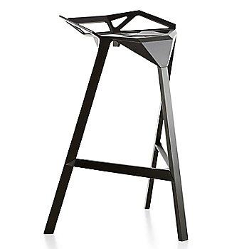 Barstool / Black/Anodised Aluminum Black Legs