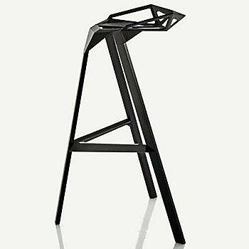 Barstool, Black/Anodised Aluminum Black Legs / side view