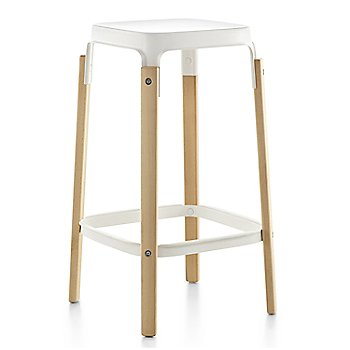 Natural Beech Legs/White Seat and Footrest finish