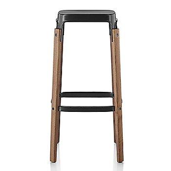 Walnut Seat/Legs with Black Frame finish