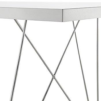 White Top with Chrome Leg finish / Detail view