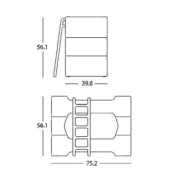 Bunky Bunk Bed schematic