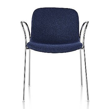 Divina MD 773 seat with Chrome base finish / Front view