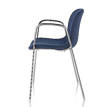 Divina MD 773 seat with Chrome base finish / Side view