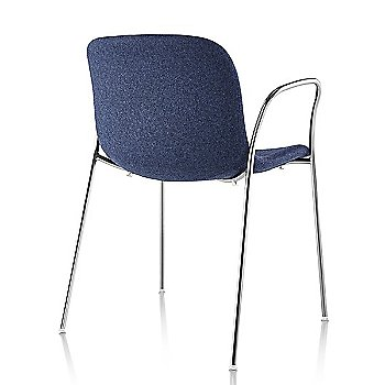 Divina MD 773 seat with Chrome base finish / Rear view