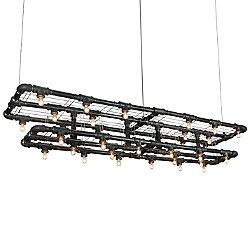 Raw Double-Decker Linear Suspension Light