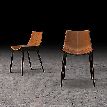 Aged Caramel Leather with Cathedral Ebony Legs