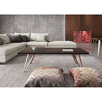 Grand Coffee Table with Perry Preconfigured Armless Corner Sectional Sofa