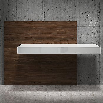 Shown in White Lacquer on Walnut finish