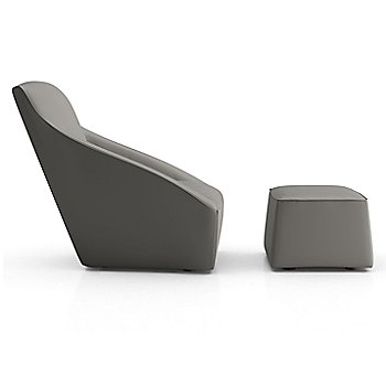 Warm Gray Leather color / Chair and Ottoman