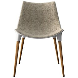 Langham Dining Chair (Oatmeal on Teak) - OPEN BOX RETURN
