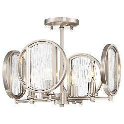 Via Capri Semi-Flush Mount Ceiling Light