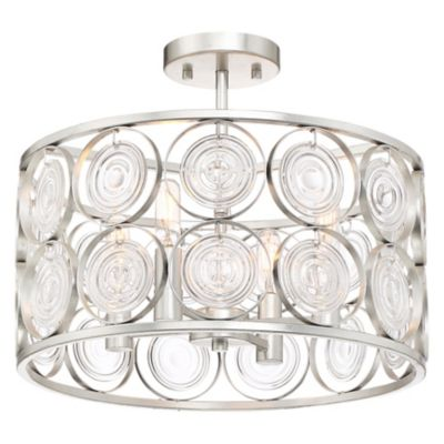 Dweled Manhattan Led Semi Flush Mount Ceiling Light Ylighting Com