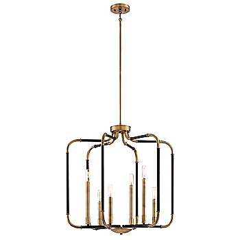 Aged Kinston Bronze with Brass Accents finish