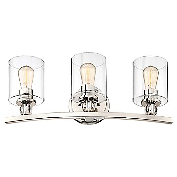 3 Lights / Polished Nickel finish