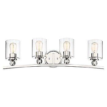 4 Lights / Polished Nickel finish