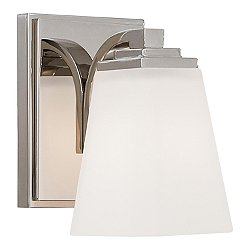 Bath Art 1 Light Bath Light (Glass/Nickel/White) - OPEN BOX