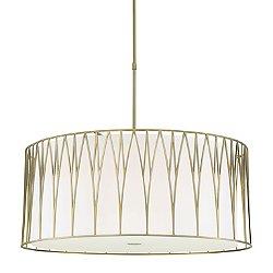 Regal Terrace LED Drum Pendant Light