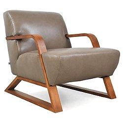 Sleigh Leather Armchair