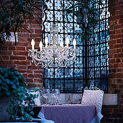 Drylight 6 Light LED Outdoor Chandelier