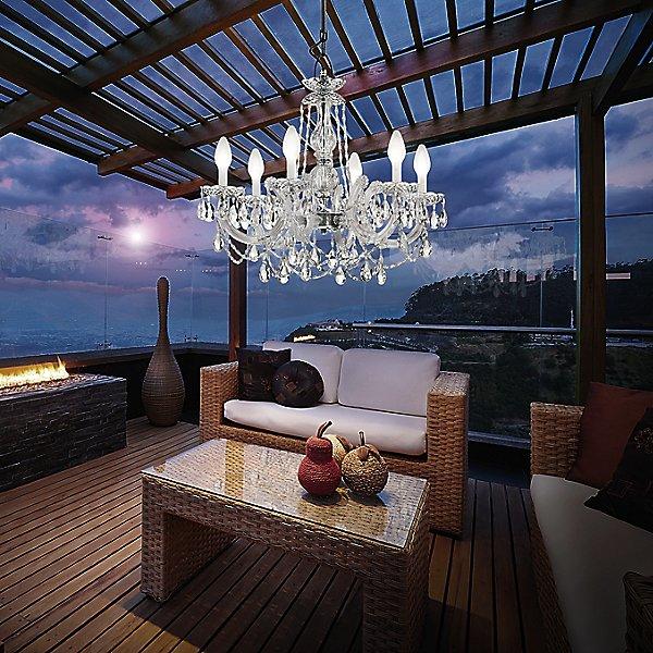 Drylight 6 Light LED Outdoor Chandelier