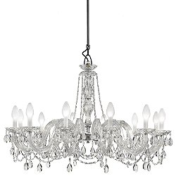 Drylight 12 Light LED Outdoor Chandelier