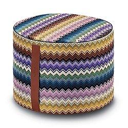 Rajam Cylinder Pouf (Multicolor) - OPEN BOX RETURN