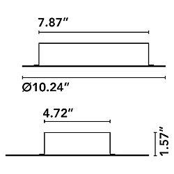 Nenufar 4 Point Canopy - 60W