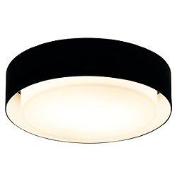 Plaff-On Ceiling Light (Black/Medium/Incan) - OPEN BOX