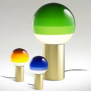 Green Medium size with Blue and Amber / Small size