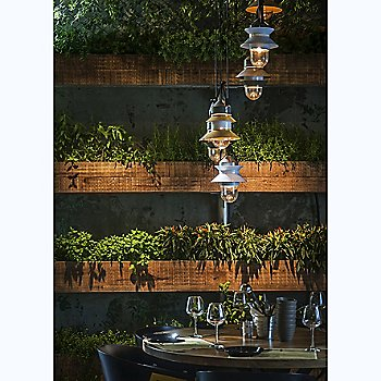 Santorini IP65 Pendant with Canopy collection, in use