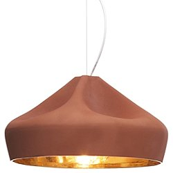 Pleat Box 47 Pendant (Terracotta w/ White) - OPEN BOX RETURN