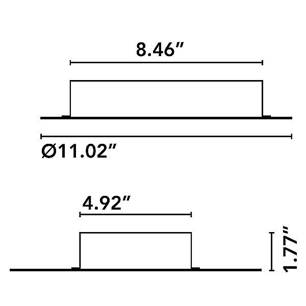 Nenufar 5 Point Canopy - 100W