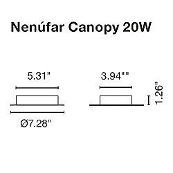 Nenufar 2 Point Canopy - 20W