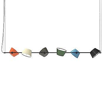 Tam Tam 6-Light Linear Suspension