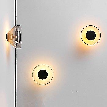 Black Backplate / Copper Glass,  illuminated