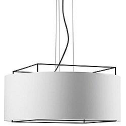 Lewit T Pendant (Medium/Matte White/White Linen) - OPEN BOX