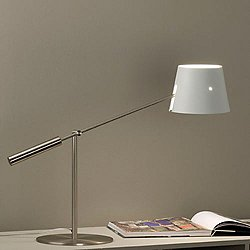 Libra M Table Lamp (Matte White Metal/Conical) - OPEN BOX