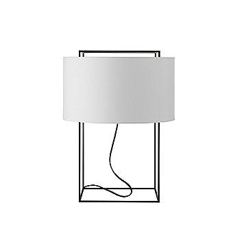White linen shade / Matte black frame finish