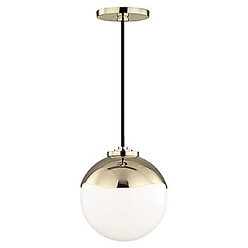 Shown in Polished Brass finish, Small size
