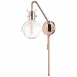 Riley Glass Swing Arm Wall Sconce (Copper) - OPEN BOX RETURN