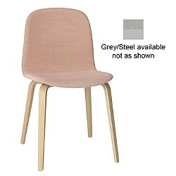 Visu Chair, Wood Base - Upholstered (Grey/Steelcut Trio 133) - OPEN BOX RETURN