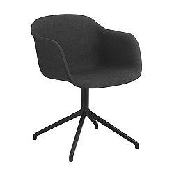 Fiber Fully Upholstered Armchair, Swivel Base