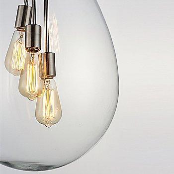 Satin Nickel finish / Medium size / illuminated / Detail view