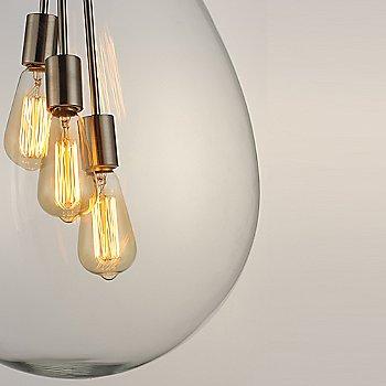 Satin Nickel finish / Large size / illuminated / Detail view