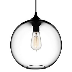 Solitaire Pendant Light (Crystal/A19/Black/Black) - OPEN BOX