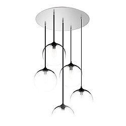 5 Light Round Multipoint Canopy