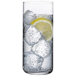 Finesse Grid Set of 4 Long Drink Glasses