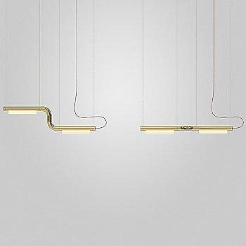 Brass finish, illuminated
