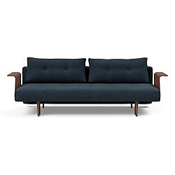 Recast Plus Sofa with Walnut Arms